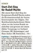 Rudi Martin ist Seniorenmeister
