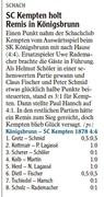 SC Kempten holt Remis in Königsbrunn
