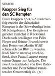 Knapper Sieg für den SC Kempten