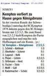 Kempten verliert zu Hause gegen Königsbrunn
