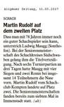 Martin Rudolf auf dem zweiten Platz